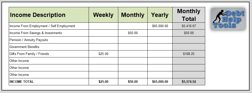 How To Use The Excel Budget Planner 1