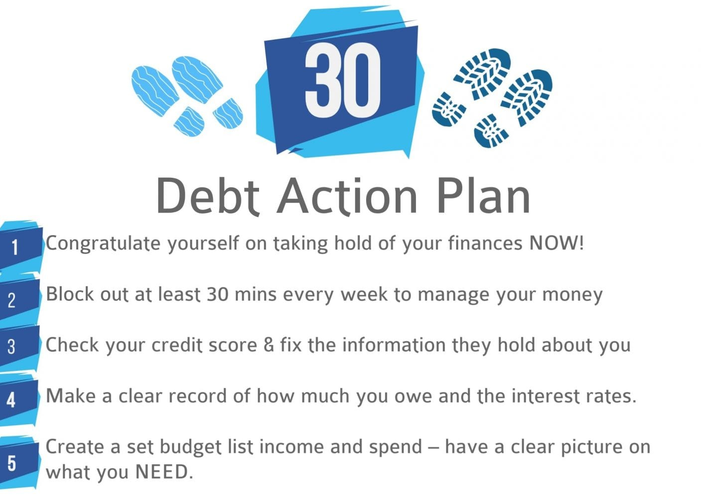 30 step debt action