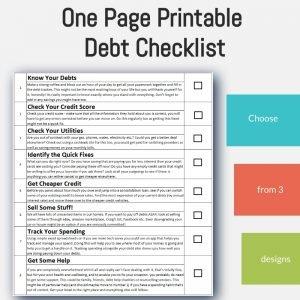 debt help checklist