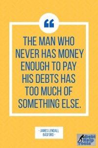 enough to pay debts