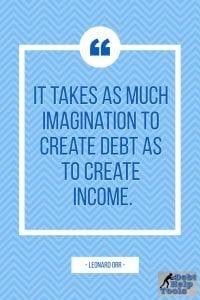 imagination to create debt