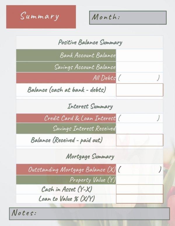 Debt Tracker Printable 1